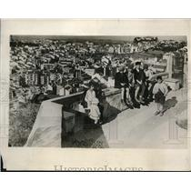 1929 Photo Remarkable View Children Seen Above Toy Like Town Lisbon