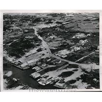 1952 Press Photo Aerial View of The Island of Hatteras Off North Carolina Coast
