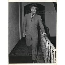 1938 Press Photo La Calif Elmer Gloomy Gus Henderson Detroit Lions coach