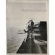 1927 Press Photo Kennth Goodson and Claude Nolan, First Tip by Automobile