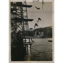 1922 Press Photo Expert divers at championship at Georgetown Germany
