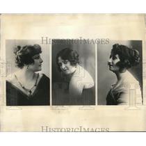 1923 Press Photo Sabina Vittone, Berta Gangloff, Maria Pomar,Mexican beauties