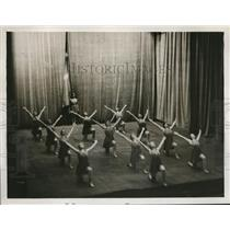 1927 Press Photo Gymnastic Demonstration by Danish Students in London