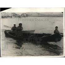 1925 Press Photo Lt Smith Paddled From Canada To New York