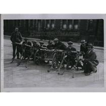 1921 Press Photo Strike Crisis--South Wales! Collier reservists delighted to