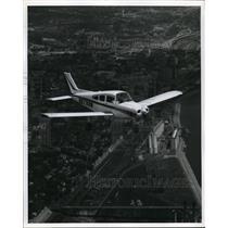 1964 Vintage Press Photo Aerial View Beechcraft Musketeer II Air