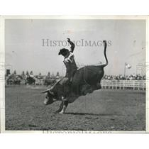 1935 Press Photo California rodeo held at Salinas, California