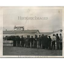 1940 Press Photo Influx of workers for Fort Meade, Maryland job