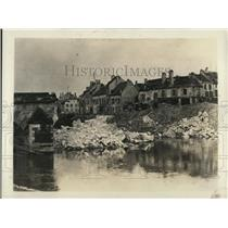 1918 Press Photo Bridge over Marne River destroyed by French at Chateau Thierrry