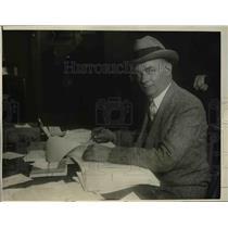 1924 Press Photo Ed Eynon, secretary for Washington Senators baseball club