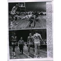 1963 Press Photo Tom Meschery of Warriors vs Royals Jack Twyman - nes22857