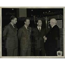 1940 Press Photo Henry Ford, Benson Ford, Mr Edcel Ford, & Mr Thos Henry