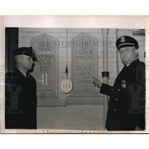 1939 Press Photo E.F. Adams & J.J. Parker of accident prevention Bureau