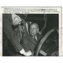 1963 Press Photo Minister of National Defense, P. Hellver, checked by O.B. Philp