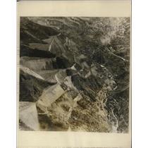 1925 Press Photo Aerial View Bingham, Utah, Copper Mining Valley Community