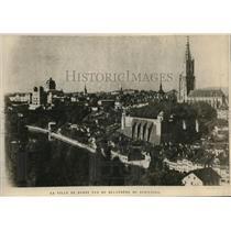 1919 Press Photo La ville de berne Vue du Belvedere du Schenzli in Berne City,