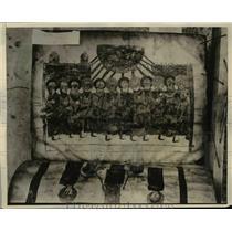 1929 Press Photo Serabit Inscriptions Showing Holy Spirit's Descent, Egypt