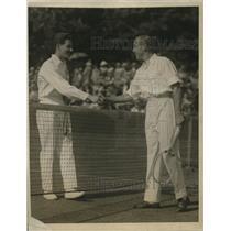 1923 Vintage Photo Brugnon Congratulates John Hawkes Brookline Courts