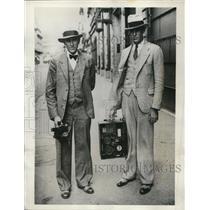 1932 Press Photo Ward T. Van Orman, R.J. Blair, U.S. Navy Balloon Scientists
