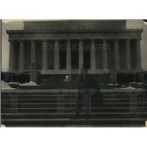 1922 Press Photo Shade of Abraham Lincoln at Lincoln Memorial