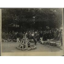 1923 Press Photo Boy Scouts inspected by distinguished men at Bear Mountain Camp