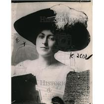 1913 Press Photo Mrs. agnes Lillman.