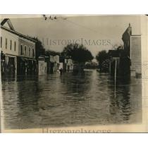 1927 Press Photo Ice jam at the Elkhorn River flooded the Waterloo in Nebraska