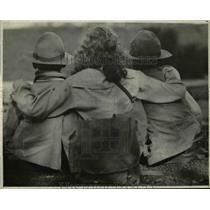 1922 Press Photo US Boy Scouts. l to r: Gerald Geraghty, Anita Stewart, Maurice