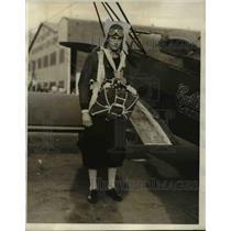 1931 Press Photo Dick Terry, Glendale, California chute jumper.