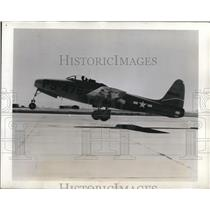 "1946 Press Photo The newest XP-84 aircraft named ""Thunderjet"""