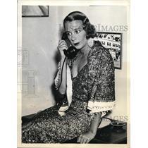 1936 Press Photo Eva von Blixen-Finecke, Swedish aviator.