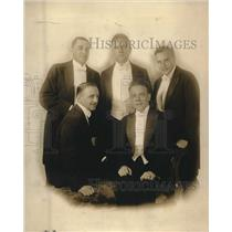 1920 Press Photo Tom Bradley, C Schuyler, J Bier, G Bisch,R Thompson