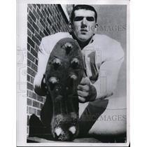 1959 Press Photo John Furman, Central Mich Chippewas Quarterback