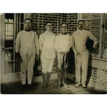 1923 Press Photo Cuban fencers in DC D Aizcambi, E Izquerio, L Anton, A Mirande