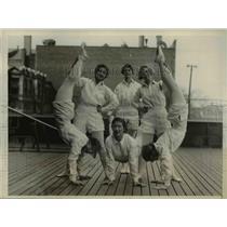 1930 Press Photo Temple Univ girls K Crauser, R Stake, J Campbell
