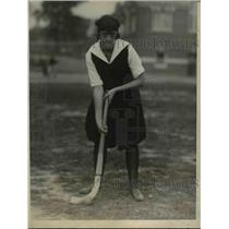 1923 Press Photo Muriel Marshall Temple Univ girls field hockey