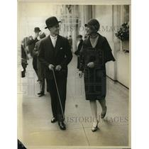 1928 Press Photo Mr Loyd Smith and Isabel D THatcher