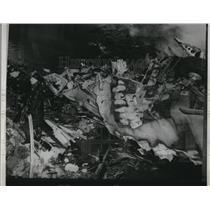 1951 Press Photo Plane Wreck of Elizabeth N5