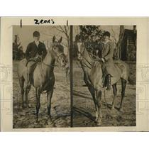 1916 Press Photo Pinehurst NC Redman Wanamaker & Louisa Byrd on horses