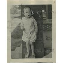 1918 Press Photo Buzzie Morgan, son of Irving Morgan, Mother Was Hit By A Train