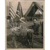 1920 Press Photo Gen. Corneilus Vabderbilt On the Job At Spartanburg