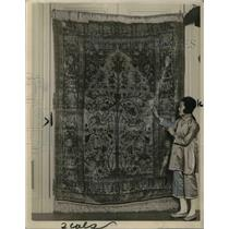 1921 Press Photo Persian Rug, World's Most Expensive Rug