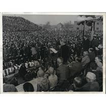 1932 Press Photo President Hoover speaking at Charleston
