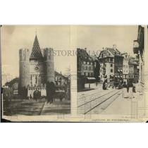1919 Press Photo General View of Bale City Switzerland