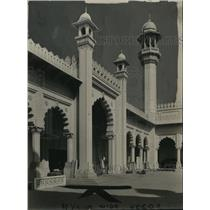 1924 Press Photo A detail of the beautiful architecture of India's building
