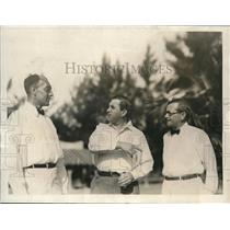1923 Press Photo Producer John Golden Cartoonist Ring Lardner Editor Ray Long