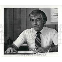 1981 Press Photo Luther Lang, deputy chief at Air Traffic Control Center in Ober