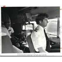 1981 Press Photo Blimp pilot Mike Firepatrick