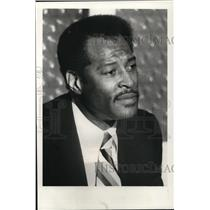 1981 Press Photo Assistant coach of Cleveland Cavaliers, Gus Johnson - cva19519