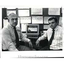 1991 Press Photo Gilbert A. Gomez and Richard T. Gance